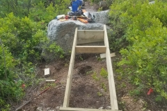 Over the boulders